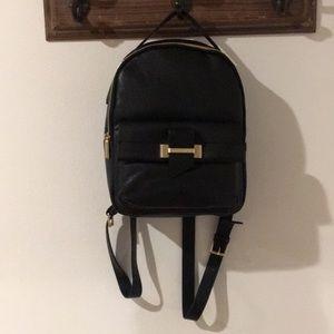 Kenneth Cole black leather backpack